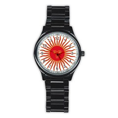 Peru Sun Of May, 1822 1825 Stainless Steel Round Watch by abbeyz71