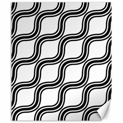 Diagonal Pattern Background Black And White Canvas 20  X 24   by Sapixe
