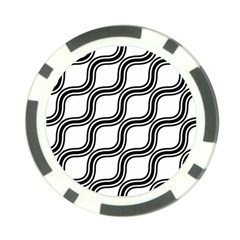Diagonal Pattern Background Black And White Poker Chip Card Guard by Sapixe