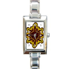 Disturbed Is An American Heavy Metal Band Logo Rectangle Italian Charm Watch by Sapixe