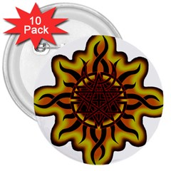 Disturbed Is An American Heavy Metal Band Logo 3  Buttons (10 Pack)  by Sapixe