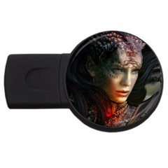 Digital Fantasy Girl Art Usb Flash Drive Round (2 Gb) by Sapixe