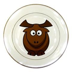 Elk Clip Art Reindeer Raindeer Elk Christmas Xmas Porcelain Plates by Sapixe