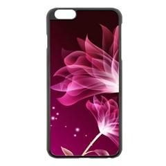 Drawing Flowers Lotus Apple Iphone 6 Plus/6s Plus Black Enamel Case by Sapixe