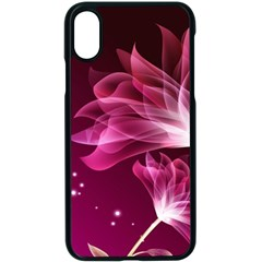 Drawing Flowers Lotus Apple Iphone X Seamless Case (black)