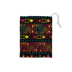 Ethnic Pattern Drawstring Pouches (small)  by Sapixe