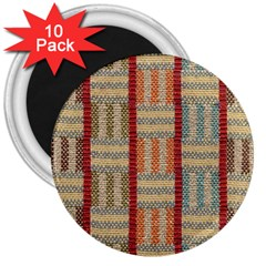 Fabric Pattern 3  Magnets (10 Pack)