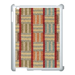Fabric Pattern Apple Ipad 3/4 Case (white) by Sapixe