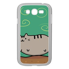 Fat Cat Samsung Galaxy Grand Duos I9082 Case (white) by Sapixe