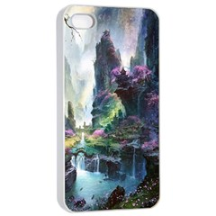 Fantastic World Fantasy Painting Apple Iphone 4/4s Seamless Case (white) by Sapixe