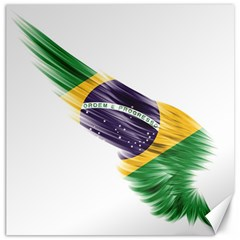 Flag Of Brazil Canvas 12  X 12   by Sapixe