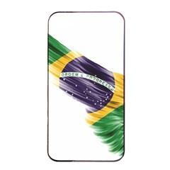 Flag Of Brazil Apple Iphone 4/4s Seamless Case (black) by Sapixe
