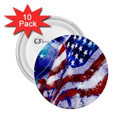 Flag Usa United States Of America Images Independence Day 2 25  Buttons (10 Pack)  by Sapixe