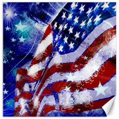Flag Usa United States Of America Images Independence Day Canvas 12  X 12   by Sapixe