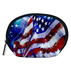 Flag Usa United States Of America Images Independence Day Accessory Pouches (medium)  by Sapixe