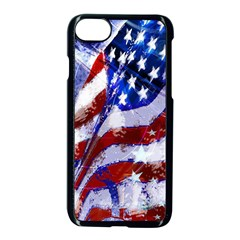 Flag Usa United States Of America Images Independence Day Apple Iphone 7 Seamless Case (black) by Sapixe