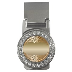 Floral Decoration Money Clips (cz)  by Sapixe