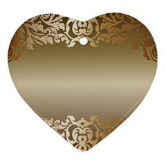 Floral Decoration Heart Ornament (two Sides) by Sapixe