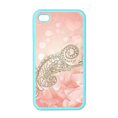 Wonderful Soft Flowers With Floral Elements Apple Iphone 4 Case (color) by FantasyWorld7