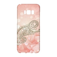 Wonderful Soft Flowers With Floral Elements Samsung Galaxy S8 Hardshell Case  by FantasyWorld7