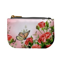 Flora Butterfly Roses Mini Coin Purses by Sapixe