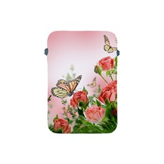 Flora Butterfly Roses Apple Ipad Mini Protective Soft Cases by Sapixe