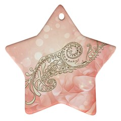 Wonderful Soft Flowers With Floral Elements Star Ornament (two Sides) by FantasyWorld7
