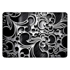 Floral High Contrast Pattern Samsung Galaxy Tab 8 9  P7300 Flip Case by Sapixe