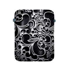 Floral High Contrast Pattern Apple Ipad 2/3/4 Protective Soft Cases by Sapixe
