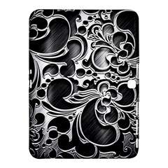Floral High Contrast Pattern Samsung Galaxy Tab 4 (10 1 ) Hardshell Case  by Sapixe