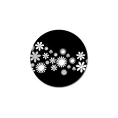 Flower Power Flowers Ornament Golf Ball Marker (4 Pack) by Sapixe