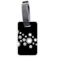 Flower Power Flowers Ornament Luggage Tags (one Side)  by Sapixe