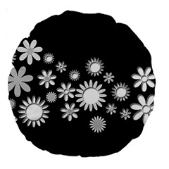 Flower Power Flowers Ornament Large 18  Premium Round Cushions by Sapixe