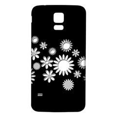 Flower Power Flowers Ornament Samsung Galaxy S5 Back Case (white) by Sapixe