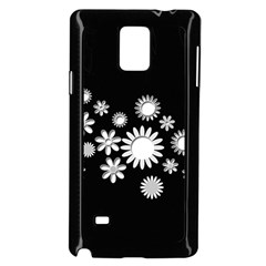 Flower Power Flowers Ornament Samsung Galaxy Note 4 Case (black) by Sapixe