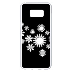 Flower Power Flowers Ornament Samsung Galaxy S8 Plus White Seamless Case by Sapixe