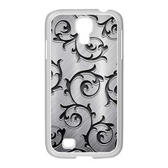 Floral Samsung Galaxy S4 I9500/ I9505 Case (white) by Sapixe