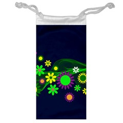 Flower Power Flowers Ornament Jewelry Bag by Sapixe