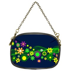Flower Power Flowers Ornament Chain Purses (two Sides)  by Sapixe