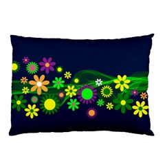 Flower Power Flowers Ornament Pillow Case (two Sides) by Sapixe