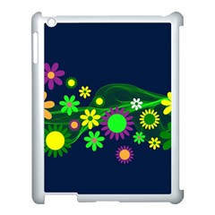 Flower Power Flowers Ornament Apple Ipad 3/4 Case (white) by Sapixe