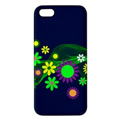 Flower Power Flowers Ornament Apple Iphone 5 Premium Hardshell Case by Sapixe
