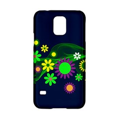 Flower Power Flowers Ornament Samsung Galaxy S5 Hardshell Case  by Sapixe