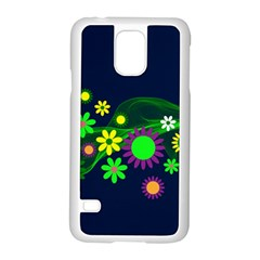 Flower Power Flowers Ornament Samsung Galaxy S5 Case (white) by Sapixe