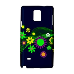 Flower Power Flowers Ornament Samsung Galaxy Note 4 Hardshell Case by Sapixe