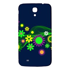 Flower Power Flowers Ornament Samsung Galaxy Mega I9200 Hardshell Back Case by Sapixe