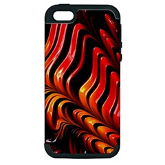 Fractal Mathematics Abstract Apple Iphone 5 Hardshell Case (pc+silicone) by Sapixe