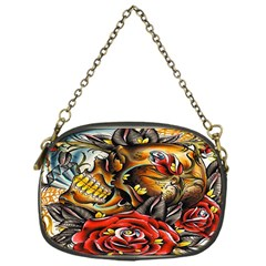 Flower Art Traditional Chain Purses (one Side)