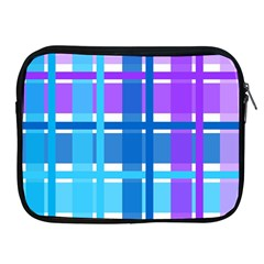Gingham Pattern Blue Purple Shades Apple Ipad 2/3/4 Zipper Cases by Sapixe