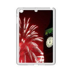 Fireworks Explode Behind The Houses Of Parliament And Big Ben On The River Thames During New Year's Ipad Mini 2 Enamel Coated Cases by Sapixe